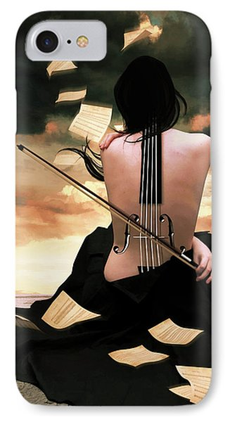 The Violin Song IPhone Case by Mihaela Pater