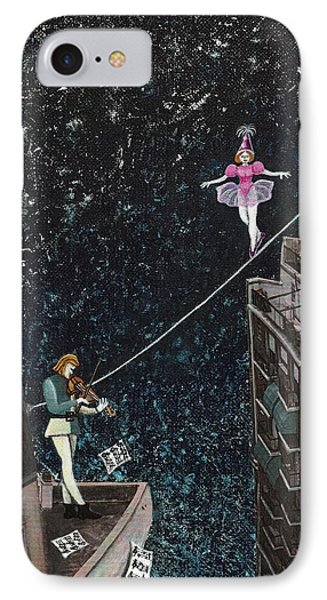 The Violinist And The Dancer IPhone Case by Graciela Bello