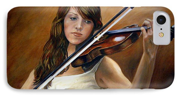 The Violinist Phone Case by Anne Kushnick
