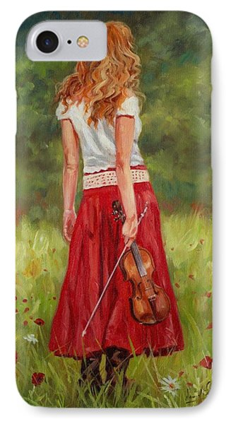 The Violinist IPhone 7 Case by David Stribbling