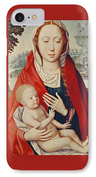 The Virgin And Child IPhone Case by Hans Memling