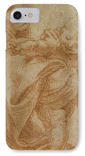 The Virgin And Child IPhone Case by Lodovico Carracci