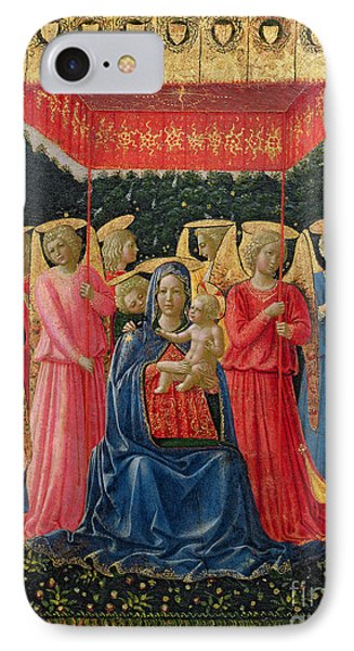 The Virgin And Child With Angels Phone Case by Fra Angelico