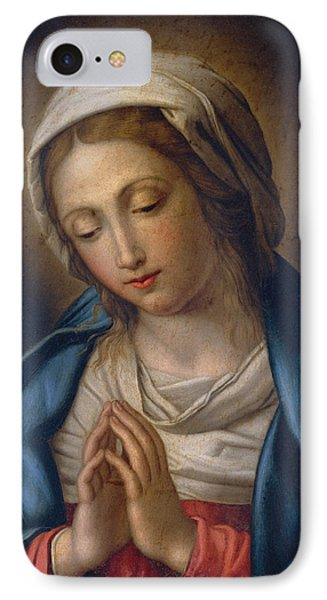 The Virgin At Prayer IPhone Case by Il Sassoferrato