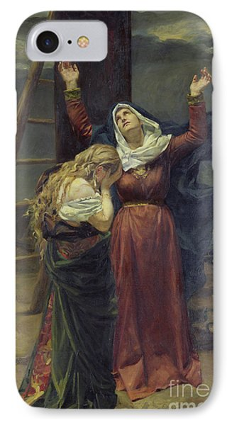 The Virgin At The Foot Of The Cross IPhone Case