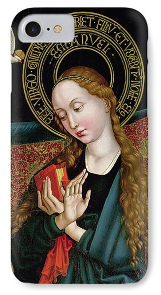 The Virgin From The Annunciation IPhone Case by Martin Schongauer