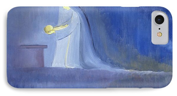 The Virgin Mary Cared For Her Child Jesus With Simplicity And Joy IPhone Case by Elizabeth Wang