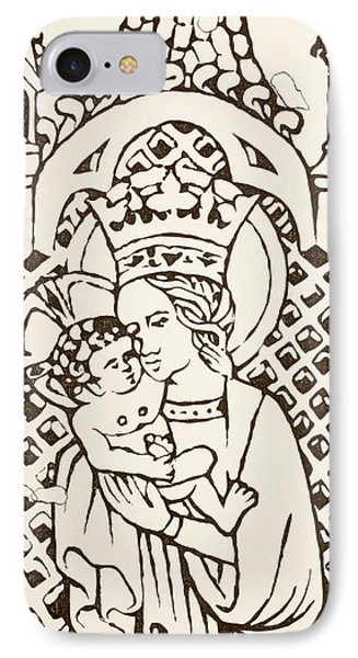 The Virgin Mary Holding The Infant IPhone Case