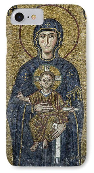 The Virgin Mary Holds The Child Christ On Her Lap Phone Case by Ayhan Altun