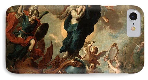 IPhone Case featuring the painting The Virgin Of The Apocalypse by Miguel Cabrera