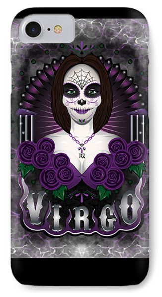 IPhone Case featuring the drawing The Virgin - Virgo Spirit by Raphael Lopez