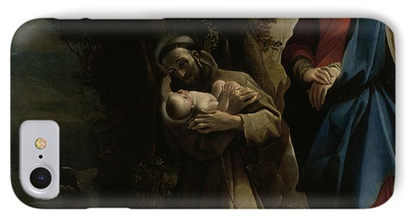 The Vision Of Saint Francis Of Assisi IPhone Case by Lodovico Carracci