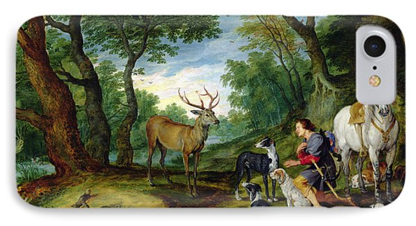 The Vision Of Saint Hubert IPhone Case by Brueghel and Rubens