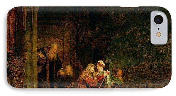 The Visitation IPhone Case by  Rembrandt Harmensz van Rijn