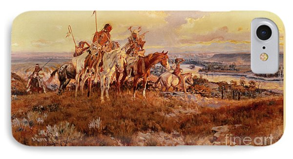 The Wagons IPhone Case by Charles Marion Russell