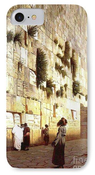 The Wailing Wall, Jerusalem, 1869 IPhone Case