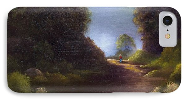 IPhone Case featuring the painting The Walk Home by Marlene Book