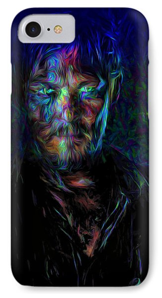 The Walking Dead Daryl Dixon Painted IPhone Case by David Haskett