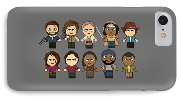 The Walking Dead - Main Characters Chibi - Amc Walking Dead - Manga Dead IPhone Case