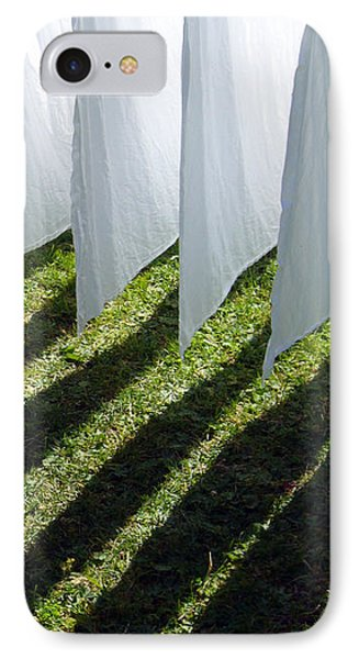 The Washing Is On The Line - Shadow Play IPhone Case by Matthias Hauser