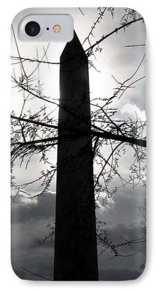 The Washington Monument - Black And White IPhone Case