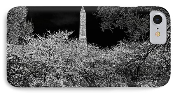 The Washington Monument At Night Phone Case by Lois Bryan