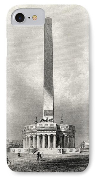 The Washington National Monument IPhone Case by Vintage Design Pics