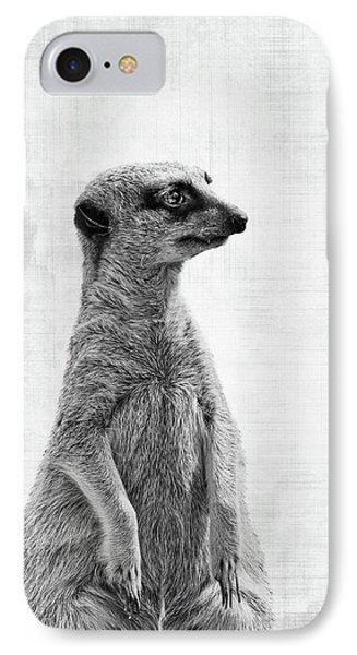 Meerkat iPhone 7 Case - The Watcher by Delphimages Photo Creations
