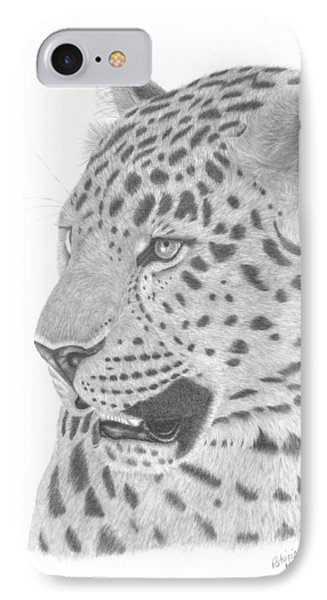 The Watchful Leopard IPhone Case by Patricia Hiltz