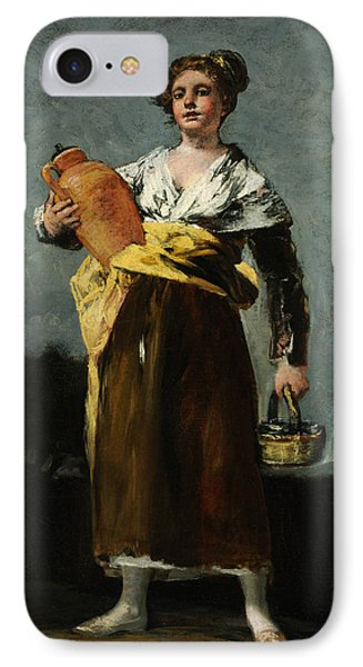 The Water Carrier  IPhone Case by Francisco Goya