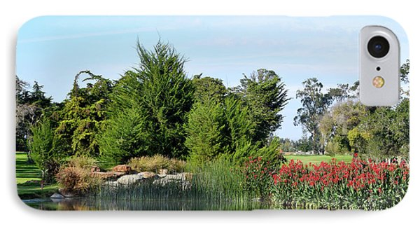 IPhone Case featuring the photograph The Water On Number One Santa Maria Country Club by Barbara Snyder