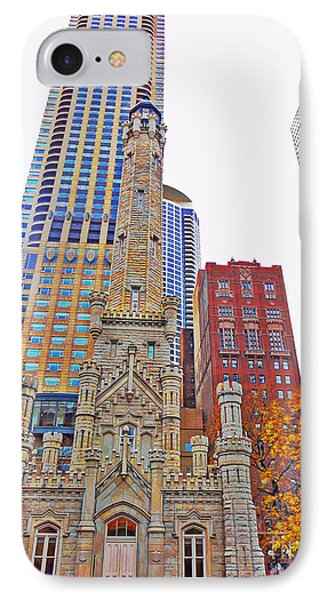 The Water Tower In Autumn IPhone Case by Mary Machare