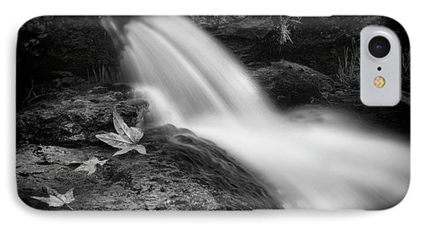 IPhone Case featuring the photograph The Waterfall In Black And White  by Saija Lehtonen