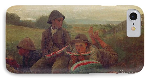 The Watermelon Boys IPhone 7 Case by Winslow Homer