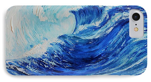 IPhone Case featuring the painting The Wave by Teresa Wegrzyn