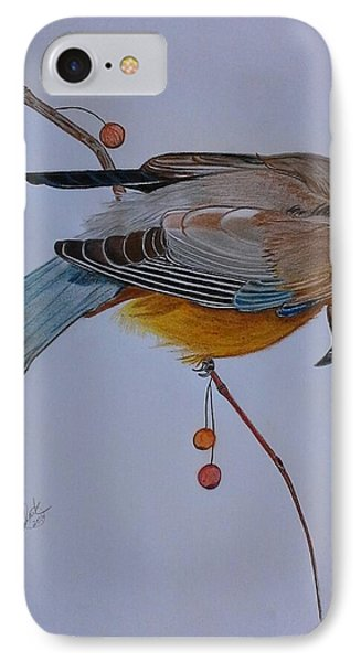 The Waxwing  IPhone Case by Tony Clark