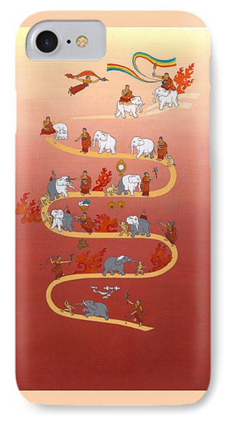 The Way Of The White Elephant The Way To Meditation IPhone Case by Berty Sieverding