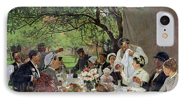 The Wedding Meal At Yport, 1886 IPhone Case by Albert-Auguste Fourie