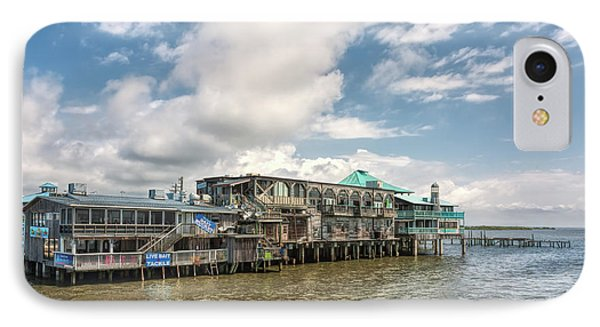 IPhone Case featuring the photograph The Wharf At Cedar Key by John M Bailey