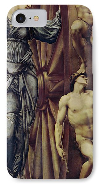 The Wheel Of Fortune IPhone Case by Sir Edward Burne Jones