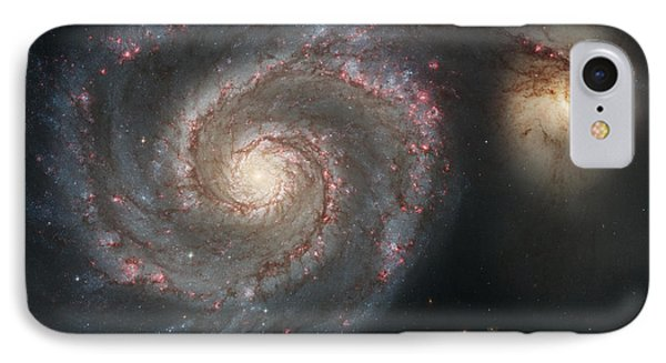 The Whirlpool Galaxy M51 And Companion Phone Case by Stocktrek Images