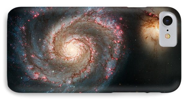 The Whirlpool Galaxy IPhone Case by Marco Oliveira