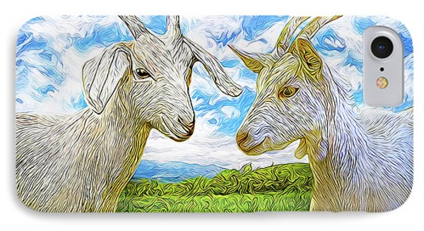 The Whispers Of Goats IPhone Case by Joel Bruce Wallach