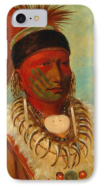 The White Cloud, Head Chief Of The Iowas IPhone Case by George Catlin
