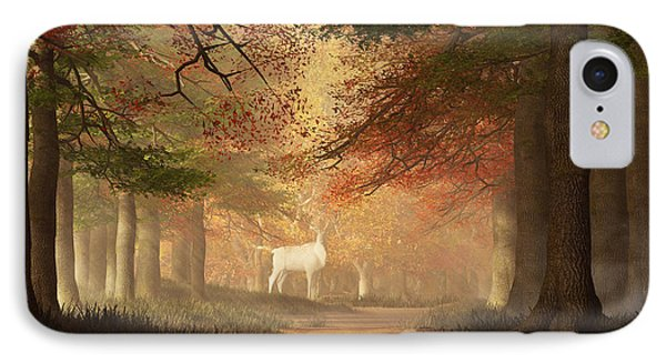 The White Elk IPhone Case by Daniel Eskridge