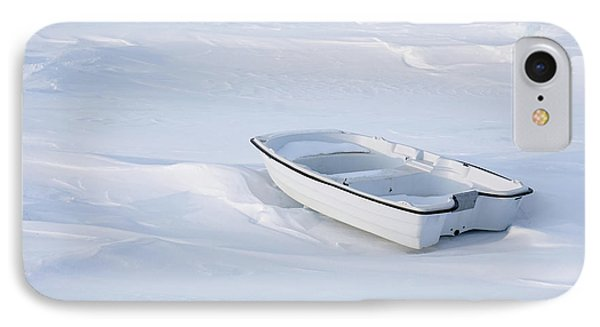 The White Fishing Boat IPhone Case by Nick Mares