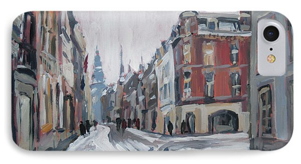 The White Grand Canal Street Maastricht IPhone Case by Nop Briex