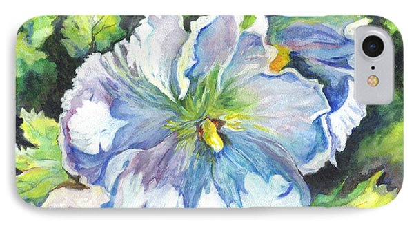 The White Hibiscus In Early Morning Light Phone Case by Carol Wisniewski