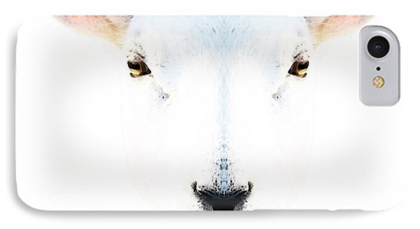 Sheep iPhone 7 Case - The White Sheep By Sharon Cummings by Sharon Cummings