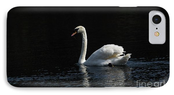 The White Swan IPhone Case by David  Hollingworth